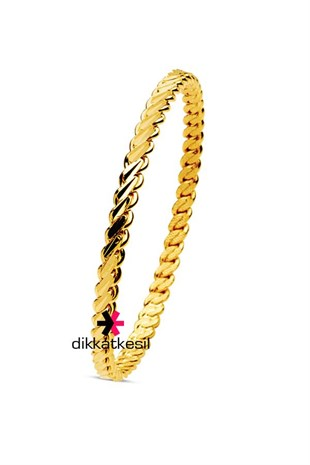 Imitation Adana Twist Bangle Bracelet, Gold Plated Triple Twist Bracelet (Thin Model Bangle)