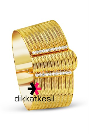 Imitation Trabzon Wickerwork Hinged Bracelet, Gold Plated Clasp Hinged Bracelet (11 Row Trabzon Wickerwork Bangle)