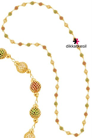 Imitation Chain Necklace, Gold Plated Chain Necklace (Cage Model)