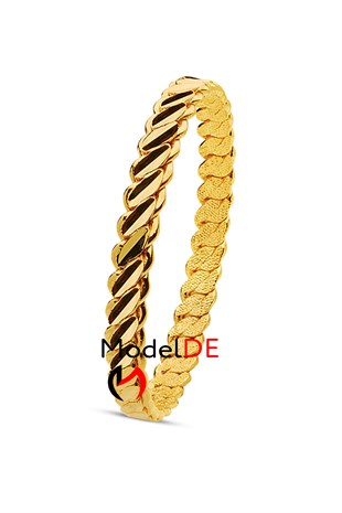 Imitation Adana Twist Bangle Bracelet, Gold Plated Triple Twist Bracelet (3 Double Thick Model Bangle)